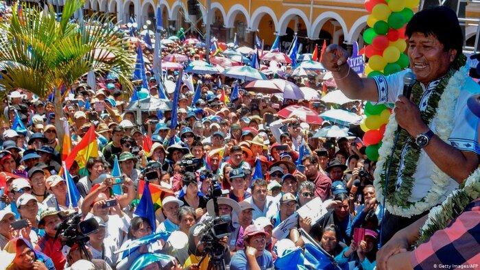 مورالس رهبری حزب سوسیالیست بولیوی را بر عهده گرفت