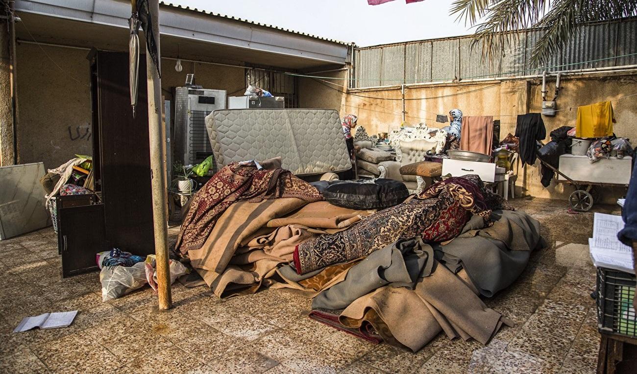 تصاویر| خانه به دوشی مردم خوزستان پس از باران