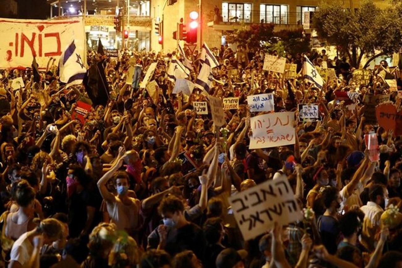 تظاهرات هزاران مخالف نتانیاهو در قدس/ یک تظاهرکننده کشته و ۲۰ تن بازداشت شدند