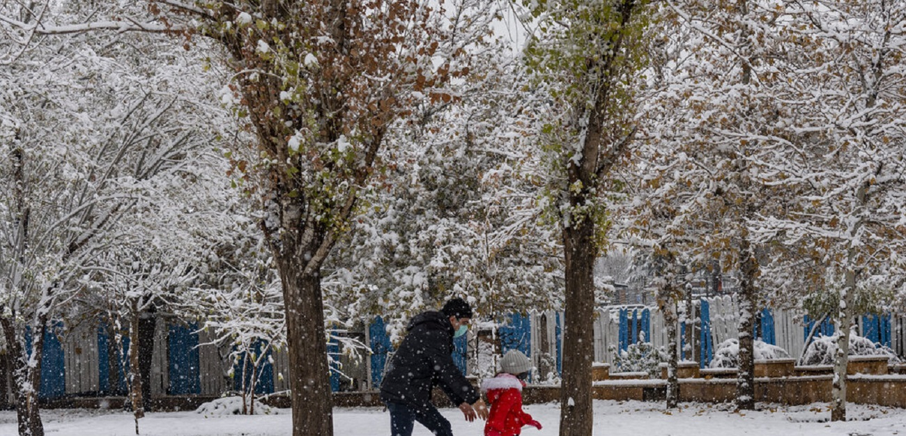 تصاویر| بارش برف پاییزی در کرج