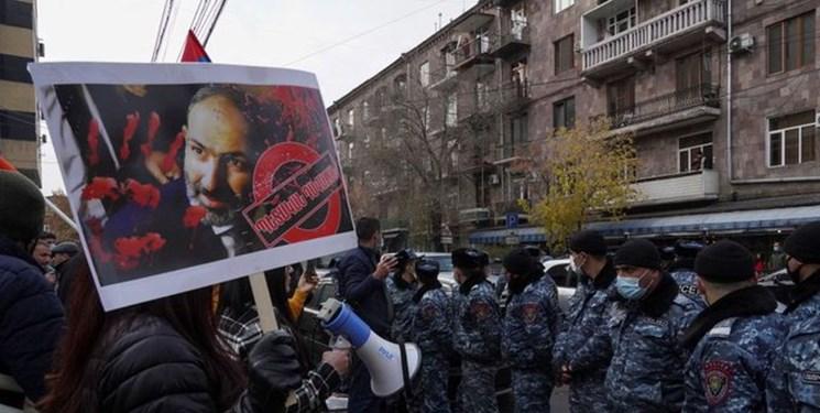 اعتراضات در ارمنستان/معترضان خواستار کناره گیری پاشینیان شدند