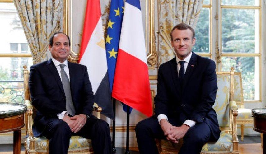 تظاهرات علیه سیسی در فرانسه/ ماکرون،حقوق بشری ها را ناامید کرد
