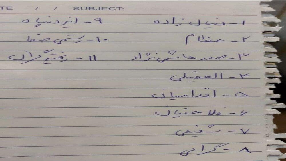 تصویر نامهای که همتی در مناظره به رئیسی داد/ اسامی ۱۱ ابربدهکار بانکی