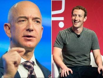 جف بزوس، مدیر عامل و مؤسس آمازون و مارک زاکربرگ، مؤسس شبکه اجتماعی فیسبوک برای نخستین بار در فهرست ۱۰ میلیاردر برتر جهان قرار گرفتند. جف بزوس با ۴۵.۲ میلیارد دلار ثروت در رتبه پنجم جدول است و زاکربرگ با کسب رتبه ۶ جدول، در سال جاری حدود ۱۱ میلیارد دلار دارایی کسب کرده است. وی در میان دیگر میلیاردرها، بهترین سال را سپری کرده است. از میان ۱۰ ثروتمند برتر جهان، زاکربرگ با ۳۱ سال، جوانترین محسوب میشود.