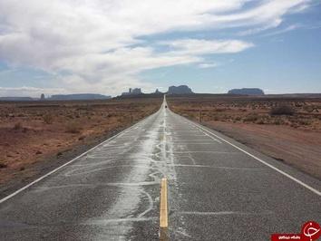 جاده 163 به سمت دره یادبود پارک ملی، یوتا ایالات متحده آمریکا  شگفتانگیزترین جادههای جهان resized 70978 140