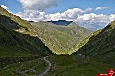 جاده به Omalo، توشتی، کوه قفقاز، گرجستان