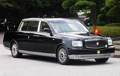 تویوتا ضد گلوله مخصوص امپراتوری و ملکه ژاپن
