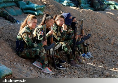 تصاویر/ زنان کرد در میدان نبرد علیه داعش