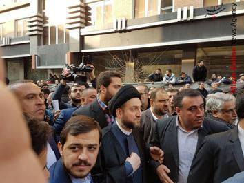 عمار حکیم رییس مجلس اعلای عراق در مراسم تشییع آیت الله هاشمی