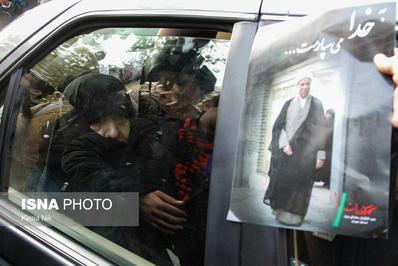 تصویری از حضور همسر آیتالله هاشمی در دانشگاه تهران