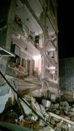 خسارت وارده به یک ساختمان در شهرستان اسلام آباد غرب/ ایرنا