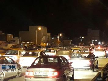 ترافیک سنگین خیابان های سنندج