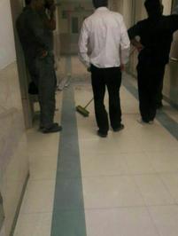 ریزش بخشی از سقف بیمارستان بعثت همدان بر اثر زلزله