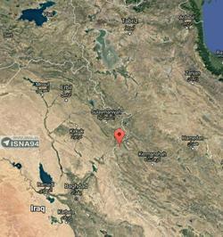 محل دقیق زلزله 7.3 ریشتری در استان كرمانشاه - حوالی ازگله