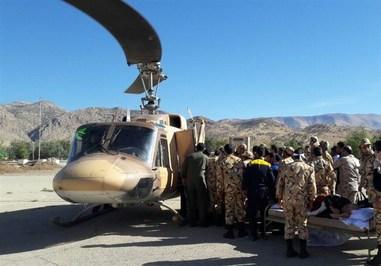 برپایی بیمارستان صحرایی ارتش در سرپلذهاب+ تصاویر