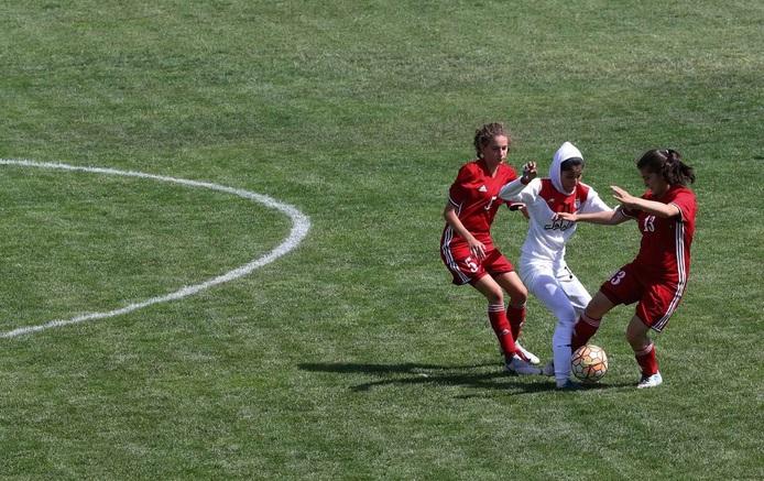 تصاویر| دیدار فوتبال جوانان دختر ایران و اردن