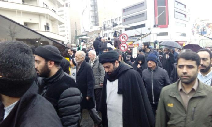 عکس  حضور فرزندان رهبر انقلاب در راهپیمایی 22 بهمن