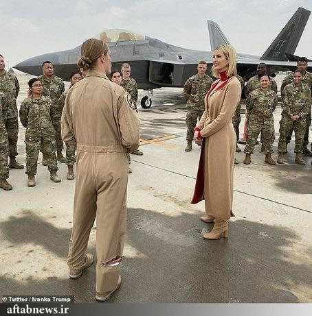 بازدید دختر ترامپ از پایگاه هوایی العدید در دوحه قطر