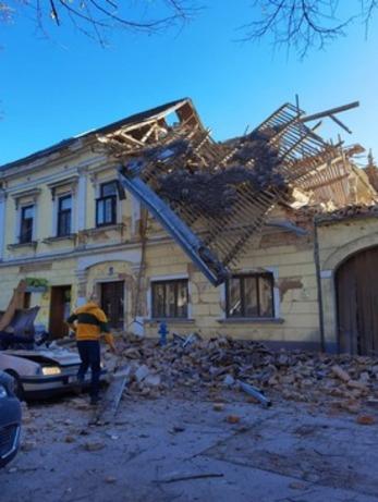 وقوع زلزله شدید در کرواسی +عکس
