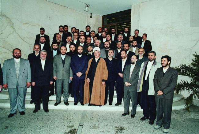 احمدی نژاد و رحیمی در جمع یاران هاشمی رفسنجانی